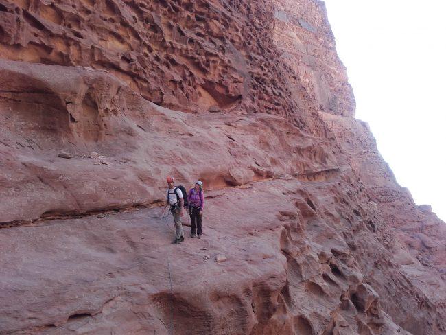 La traversée de la sabbah's route à Wadi Rum.