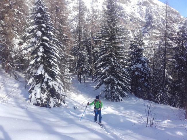 Montée en ski de rando à la Tête de Clotinaille.