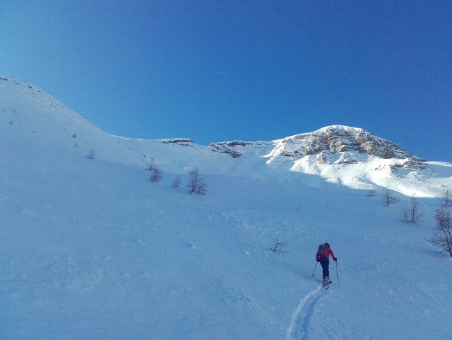 Ski de rando à la Tête de Clotinaille en décembre.