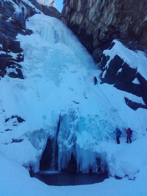 La dernière longueur de la cascade de Lillaz.