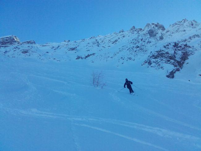 Ski à Serre Che dans la Montagnole.