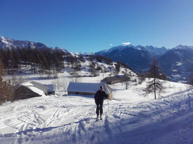 Départ de la rando à ski à la Tête de Fouran.