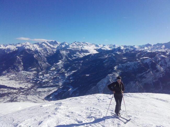 Bientôt arrivé à la Tête de Fouran en ski.