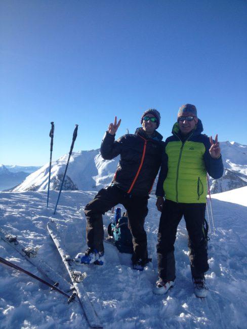 Le sommet de la Tête de Fouran après une montée en ski.