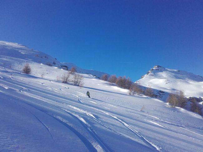 Ski à la tete de fouran.