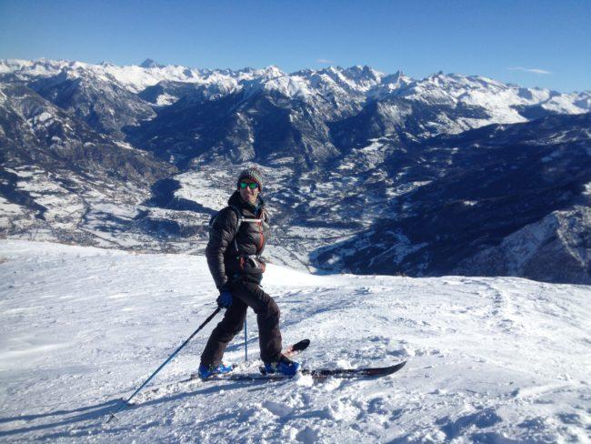 Ski de randonnée à la Tête de Fouran dans les Hautes Alpes.