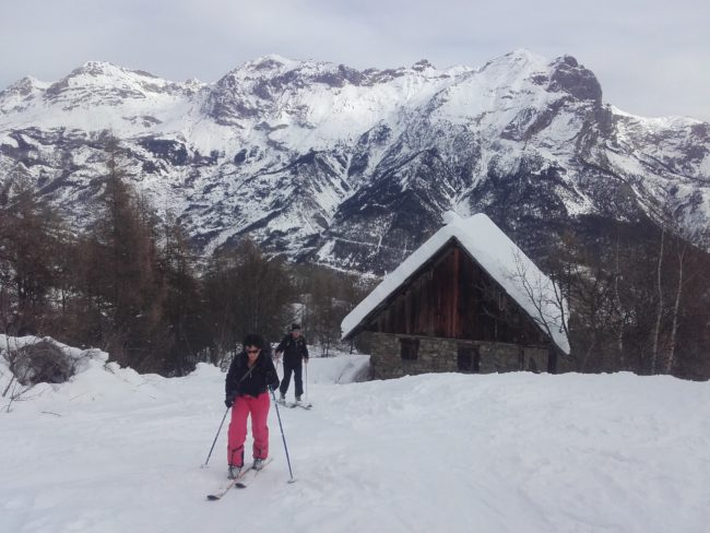 Ski de randonnée à Narreyroux.