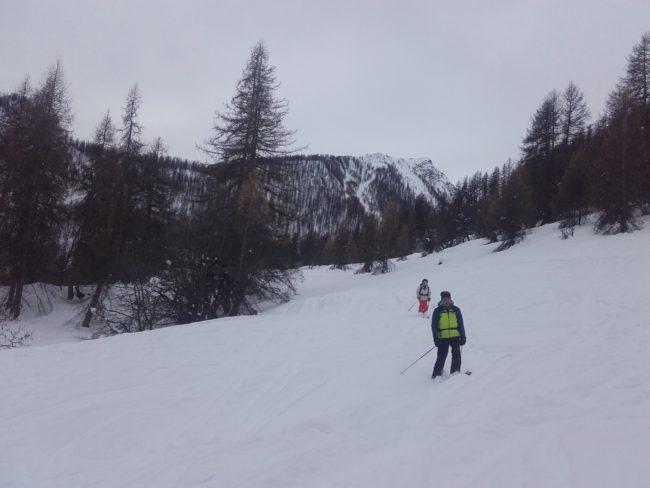 Ski à la crête de Reychard.