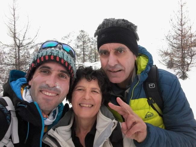 Ski de rando à la crète de Reychard.