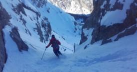 Ski en face Nord de l'Aiguillas