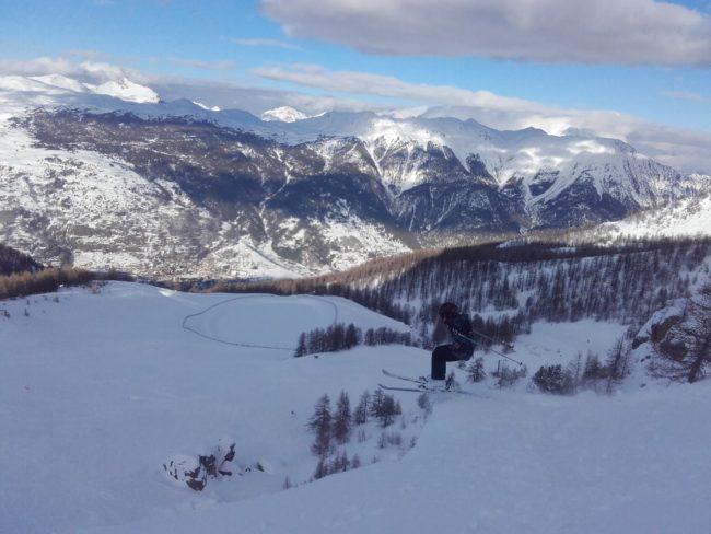 Ski à l'école buissonière de Serre Che.