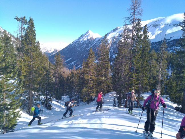Ski de rando vers le Laus de Cervières et le col perdu.
