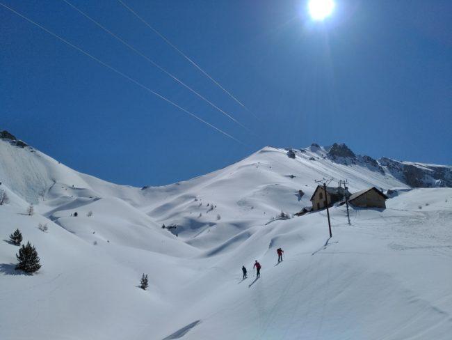 Descnte en ski du col Perdu.