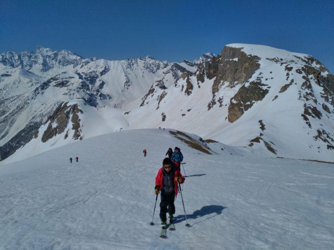 Stage ski de rando initiation dans les hautes Alpes.