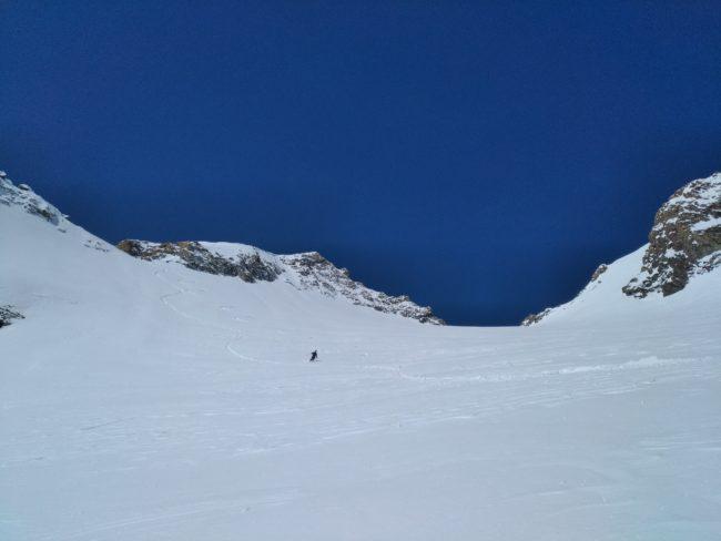Descnte en ski de la grande Ruine.