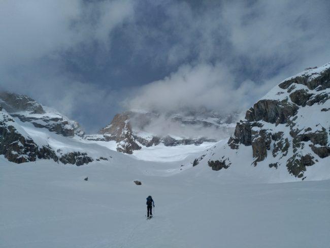 Ski de randonnée au refuge du Promontoire.