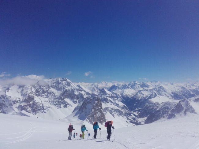 Raid à ski au Mont Thabor.