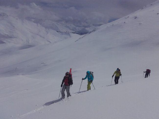 Ski de randonnée au Grand Argentier en Maurienne.