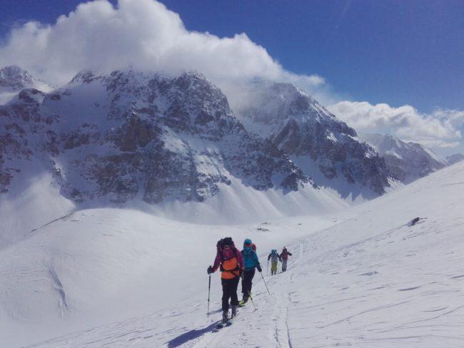Ski de rando au Mont Thabor par la voie normale du refuge du Thabor.