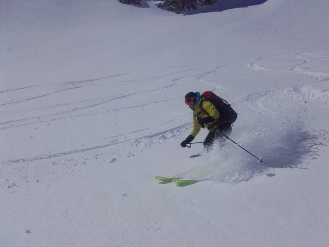 Ski en poudreuse au Mont Thabor.