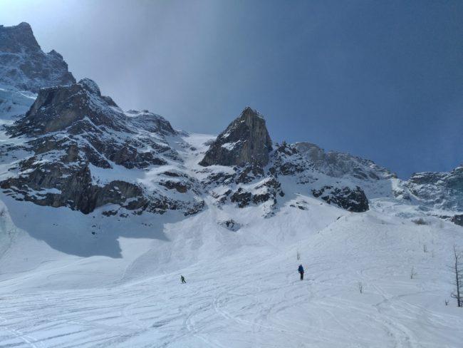 On vient de skier les Enfetchores àla Grave.