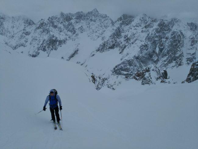 Ski de rando au col du Diable de la grande ruine.