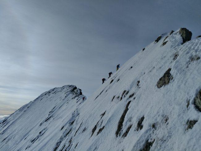 La Barre des Ecrins en neige.