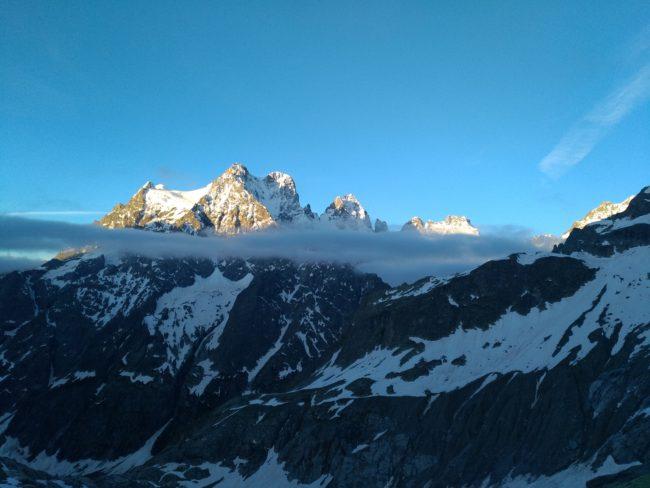 Le mont Pelvoux dans les Ecrins.