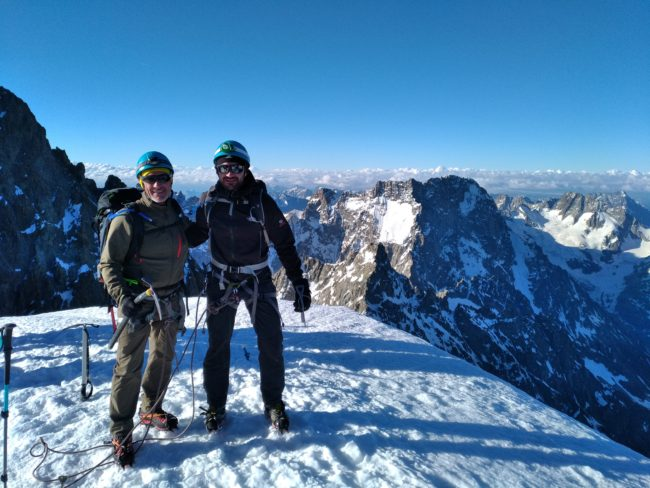 Stage alpinisme au dôme des Ecrins.
