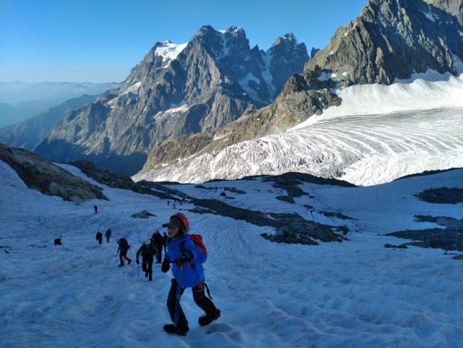Balade et alpinisme initiation au glacier Blanc.