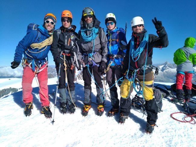 Le sommet du Castor dans le massif du Mont Rose.