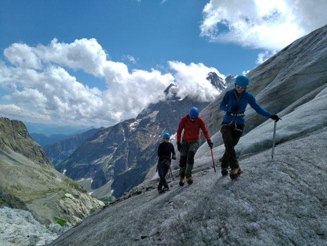 Cramponnage 10 pointes sur le glacier Blanc.