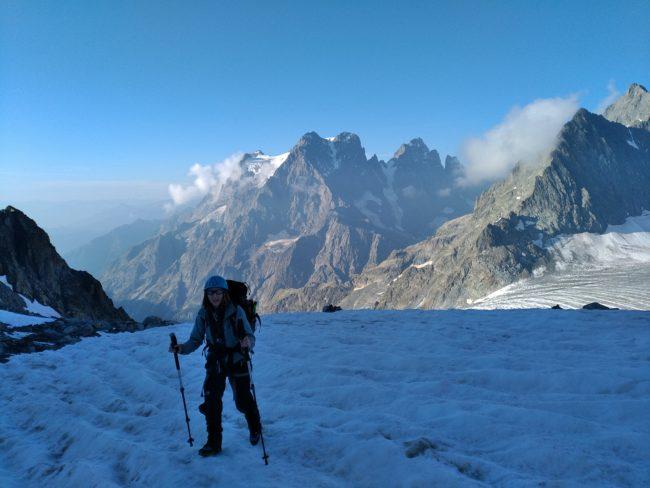 Nous montons au pic du glacier d'Arsine.