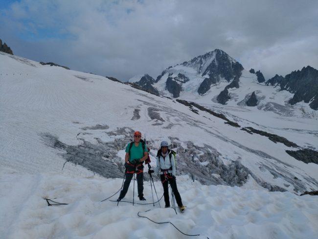 Le glacier du Tour et l'aiguille du Chardonnet.