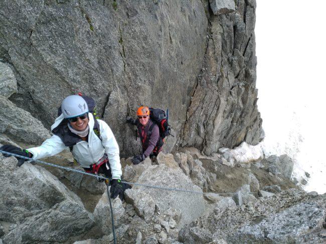 Remontée au col du Tour pour passer du glacier du Tour à celui de Trient.