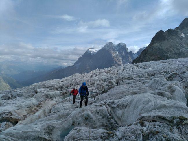 Le glacier Blanc en fin d'été 2018.