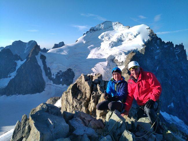 Nous sommes arrivés au sommet de la Roche Faurio.