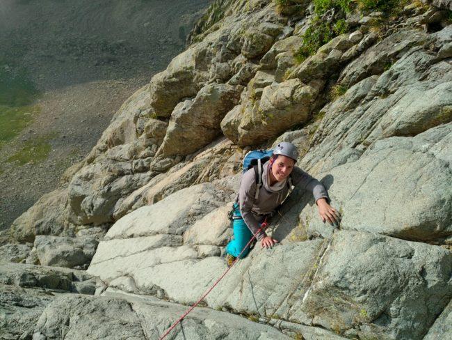 Voie Fouquier en escalade à l'Ossau.