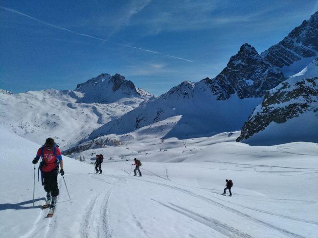 Raid à ski de 5 jours dans les Cerces et la Clarée.