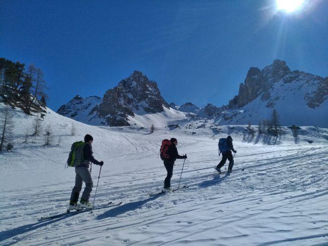 Ski de randonnée au refuge du Chardonnet.