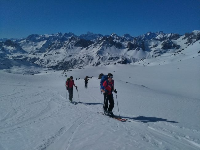 Ski au Rocher de la Petite Tempête.