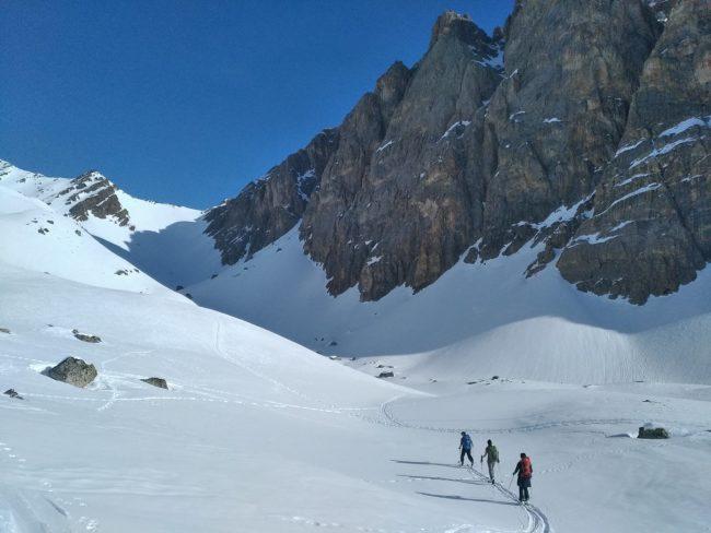 Ski de randonnée sur le tour du Queyrellin.