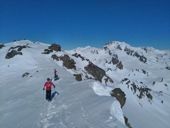 Arête du Rocher de la Petite Tempête en hiver.